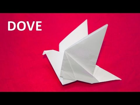How to make a paper dove with flapping wings - origami tutorial. Educational video for children