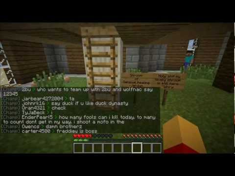 Lets Play Minecraft HungerGames (Part 1) HG + PVP