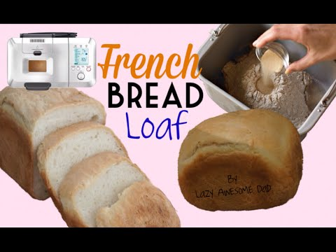 How to make Crusty FRENCH Bread Loaf Recipe Breadmaker Machine Breville Custom Loaf Pro BBM800