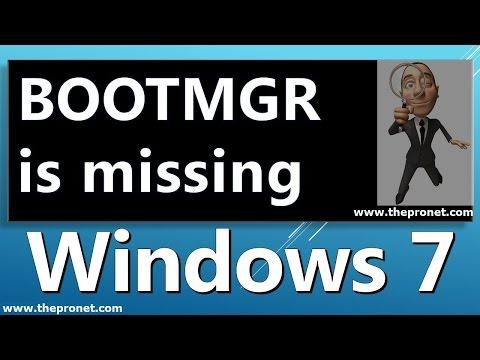 How To Fix ' BOOTMGR is missing' System Restore / Résoudre Problème