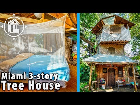Fantastic DIY Tree House on Permaculture Farm in Florida