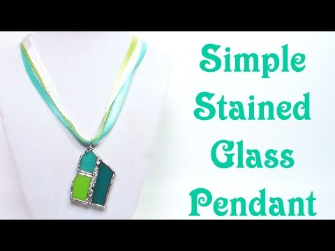 Stained Glass Scrap Necklace Tutorial