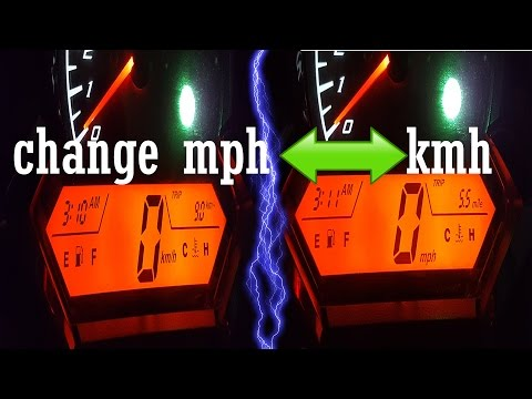 How to Change Motorcycle Speedometer MPH to KM/H or KM/H to MPH🏍