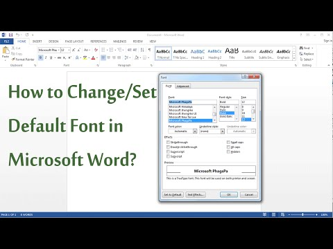How to Change/Set Default Font in MS Word 2003/2007/2013?