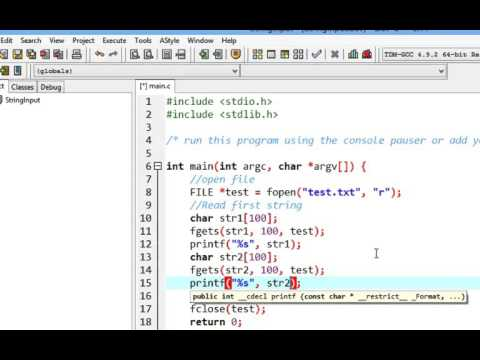 C Programming, File operation, String Input (fopen, fclose, fputs, strcmp)