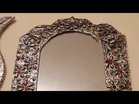 Aluminum foil Art, D I Y  wall hanging. Royals Antique mirror