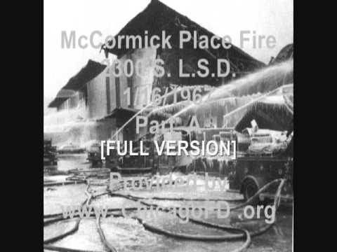 Chicago Fire Dept. McCormick Place 5-11 Alarm 1-16-1967 (AUDIO ONLY)
