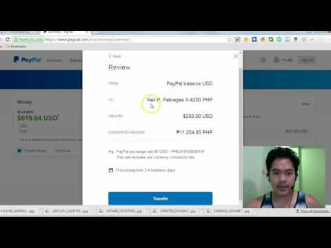 How to Transfer Money from Paypal to your Bank Account - Tagalog