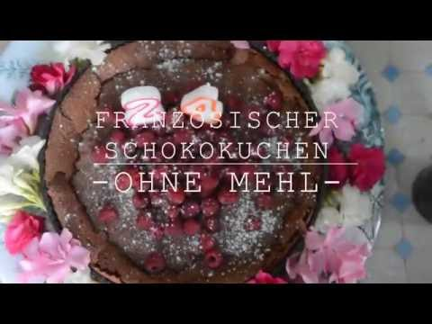 Französischer Geburtstagsschokoladenkuchen OHNE MEHL!