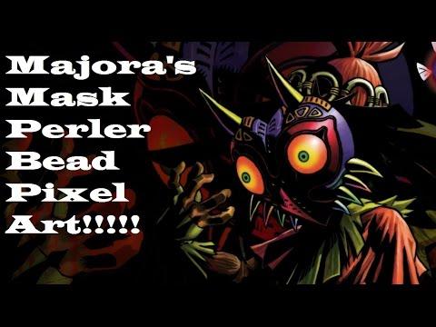 Majoras Mask Perler Bead Pixel art!!