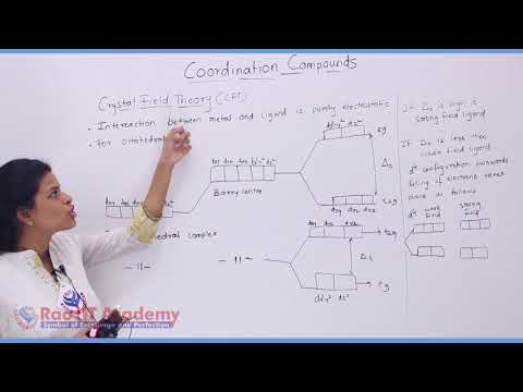 Coordination Compound Chemistry Part-5 std 12th HSC Board Video Lecture BY Rao IIT Academy