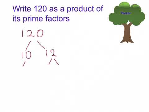 How to write a number as a product of its prime factors