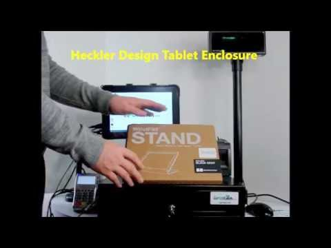 Heckler Design Windfall Tablet Enclosure/Stand for iPad POS System