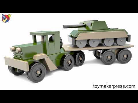 Wood Toy Plans - Desert Storm War Tank and Truck