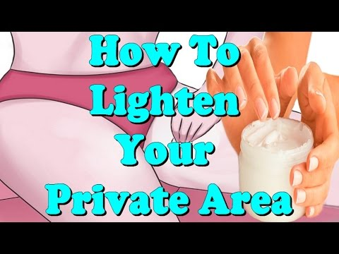 how to lighten your private area