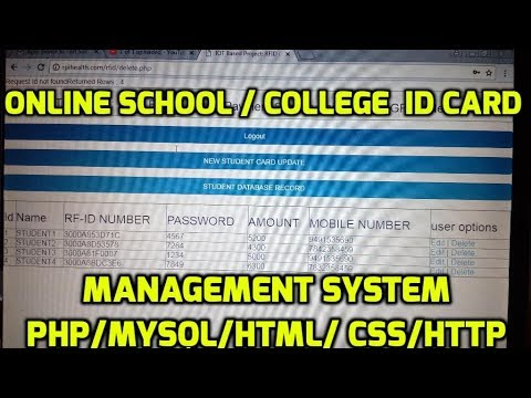 Online School / College Id Card Management System using PHP/MYSQL/HTML/ CSS/HTTP