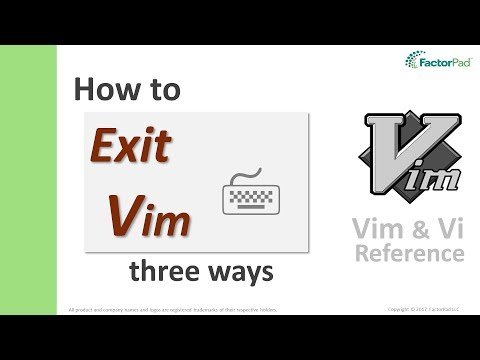 Exit Vim - Three ways to quit vim including with and without saving