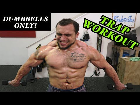 Intense 5 Minute Dumbbell Trap Workout #2
