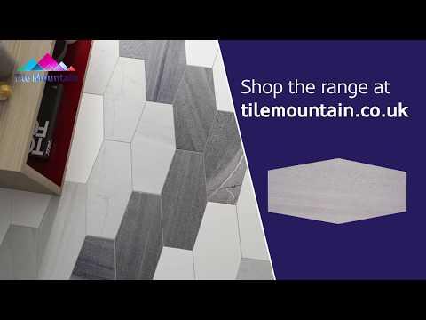 Stone Cut Hexagon Matt Grey Wall And Floor Tile (440385) - Tile Mountain