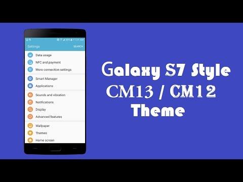 Samsung Galaxy S7 Style Theme for all CyanogenMod 13 & CyanogenMod 12