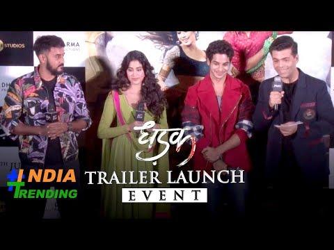 Dhadak trilar launch   Janhvi Kapoor  Ishaan Khattar  Karan Johar   Shashank Khaitan