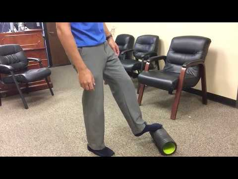 The Best Plantar Fasciitis Stretch with foam roller