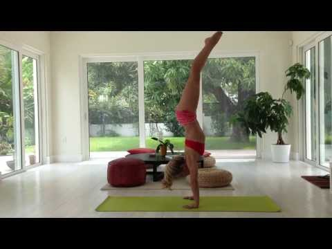 Yoga Handstand Press 7 Minute Class with Kino