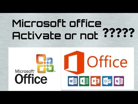 How to check microsoft office is activate or not activate by Technosadiq