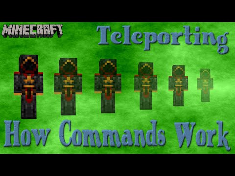 How To Teleport - Minecraft Tutorial 1.10 and 1.9
