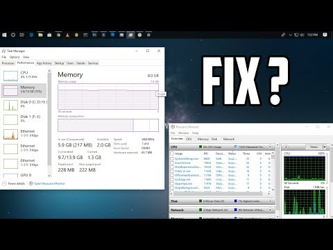 How To Fix High RAM/CPU Usage of Windows 10 [Solved]