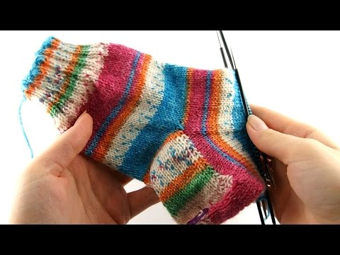 How to Knit Socks #5 Gusset