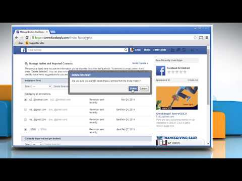 How to delete imported contacts on Facebook®