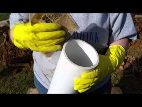 Change clay pipes for PVC pipes