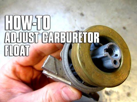 HOW-TO Adjust A Carburetor Float