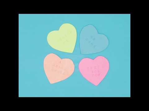 How to Make Conversation Heart Coasters