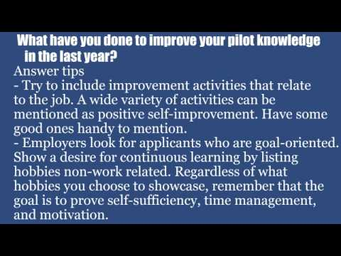 Top 10 pilot interview questions and answers