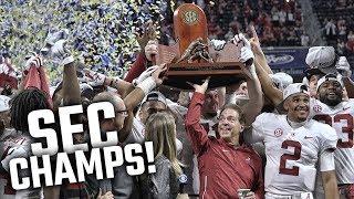 Alabama receives SEC Championship trophy