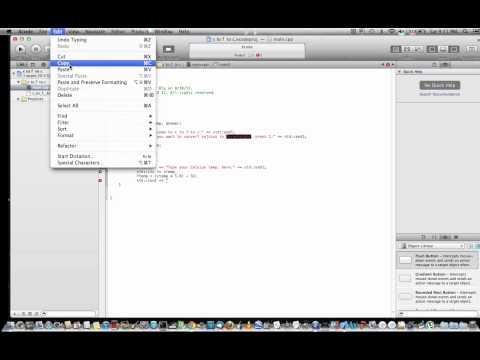 Fahrenheit to Celsius and Vice Versa C++ tutorial Mac OSX