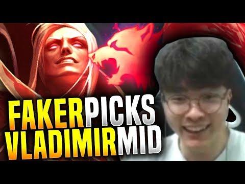Faker Plays Vladimir ft Bang Ezreal! - SKT T1 Faker Picks Vladimir Mid! | SKT T1 Replays