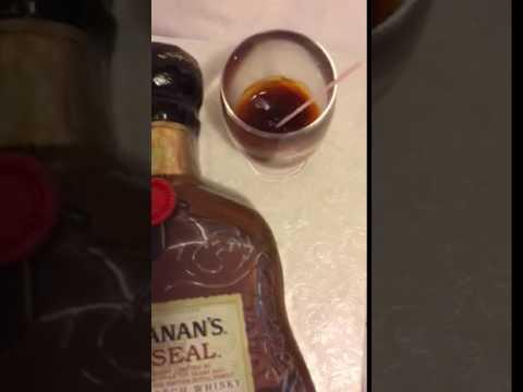 Liquor bottle cake Buchanan's red seal