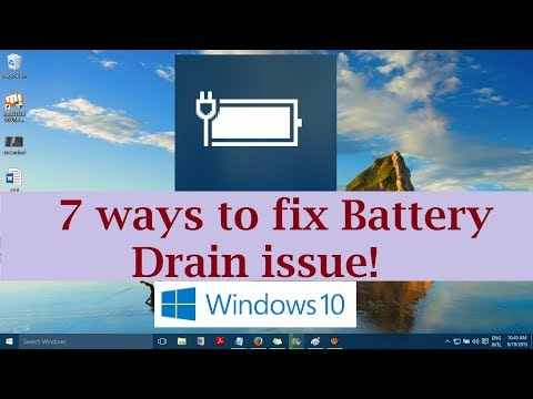 Battery Draining too fast in Windows 10 (7 Ways to fix it)