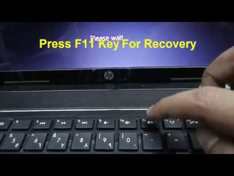 How to RUN Recovery on HP Pavilion g6,