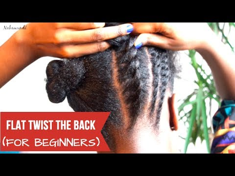 How to: Flat Twist the Back | Braids For Beginners | Nakawunde