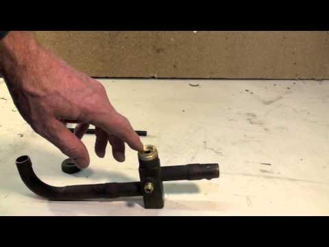 Air conditioning service valve