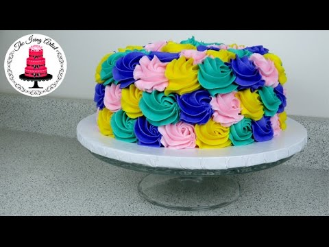 Rose Swirl Rosette Cake - How To With The Icing Artist