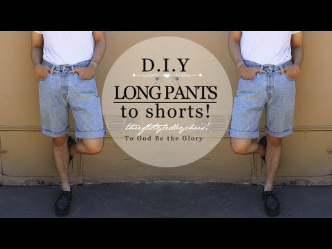 Transformation: Baggy Pants to Fitted Shorts!