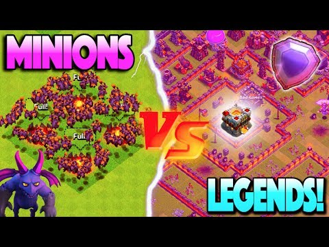 ELECTRIC MINION SWARM vs. LEGENDS LEAGUE PLAYERS! Clash of Clans Event Challenge!