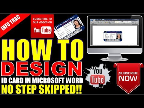 HOW TO MAKE ID CARD BUSINESS ID USING MICROSOFT OFFICE