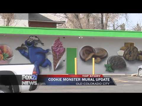 Wellstone Medical Marijuana store takes down their Cookie Monster Mural