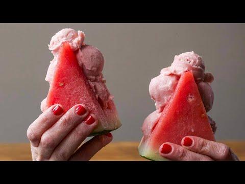 Watermelon Slice Sorbet Sandwiches